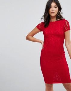 Платье миди из кружева кроше AX Paris - Красный
