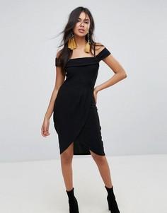 Платье миди с запахом AX Paris - Черный