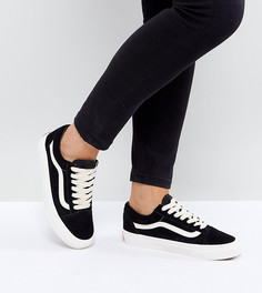 Черные замшевые кроссовки Vans Old Skool - Черный