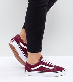 Бордовые кроссовки Vans Old Skool Unisex - Красный