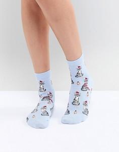 Новогодние носки с котами ASOS - Синий