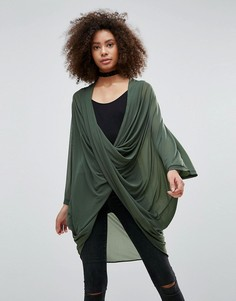 Блузка с перекрестным дизайном QED London - Зеленый