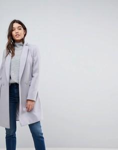 Классическое узкое пальто ASOS - Серый
