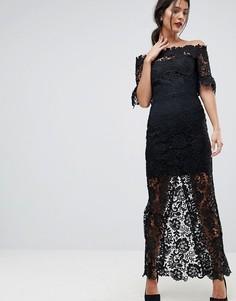 Платье макси с открытыми плечами Paper Dolls - Черный