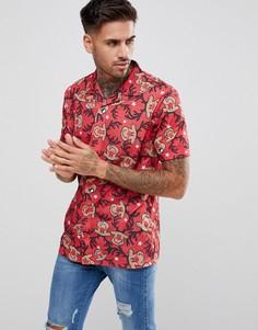 Рубашка в новогоднем стиле с короткими рукавами LDN DNM - Красный