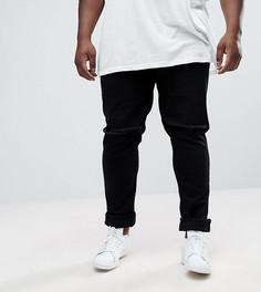 Черные джинсы скинни с рваной отделкой ASOS PLUS - Черный