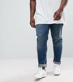 Темные джинсы скинни ASOS PLUS - Синий