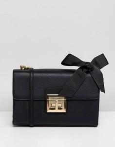 Черная сумка с ремешком-цепочкой через плечо и бантом ALDO - Черный