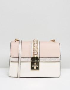 Телесная сумка с жемчужной отделкой ALDO X Body - Розовый