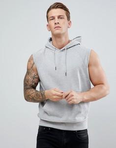 Свитшот без рукавов с капюшоном D-Struct - Серый