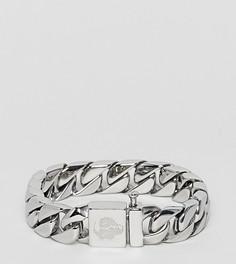 Массивный браслет-цепочка Noose & Monkey - Серебряный