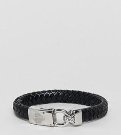 Черный кожаный браслет Noose & Monkey - Черный