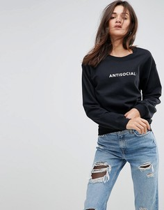 Свитшот с принтом Anti-Social Adolescent Clothing - Черный