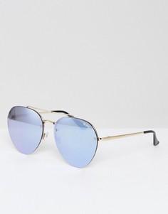 Золотистые солнцезащитные очки-авиаторы Quay Australia - Золотой