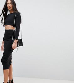 Удлиненная юбка-карандаш с завышенной талией ASOS TALL - Черный