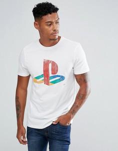 Белая футболка с принтом Playstation New Look - Белый