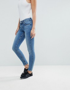 Синие джинсы скинни с классической талией ASOS LISBON - Синий