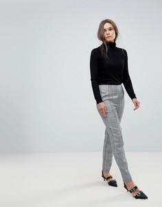 Зауженные брюки в клетку Parisian - Черный