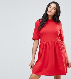 Свободное хлопковое платье мини ASOS TALL - Красный