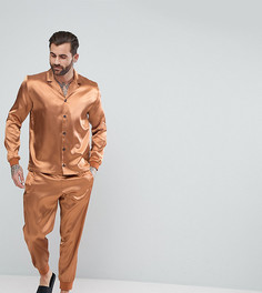 Атласная пижама ASOS - Оранжевый