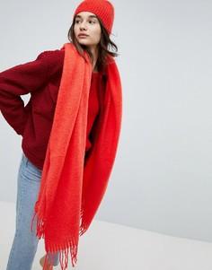 Мохеровый шарф Weekday - Красный