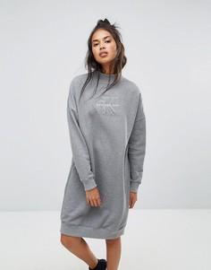 Платье с воротником поло Calvin Klein Jeans - Серый
