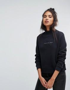 Свитшот с воротником поло Calvin Klein Jeans - Черный