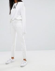 Джинсы слим с завышенной талией Calvin Klein Jeans - Белый