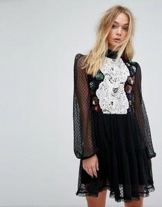 Декорированное платье мини Millie Mackintosh - Черный