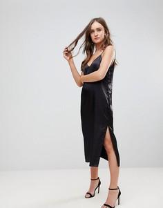 Платье-комбинация миди Finders Keepers Claude - Черный