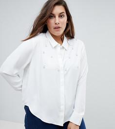 Рубашка с отделкой искусственным жемчугом Unique 21 Hero - Белый
