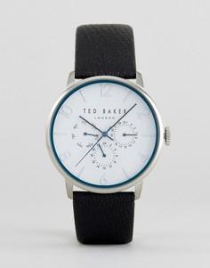 Черные часы с кожаным ремешком Ted Baker James - Черный