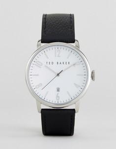 Часы с черным кожаным ремешком Ted Baker Daniel - Черный