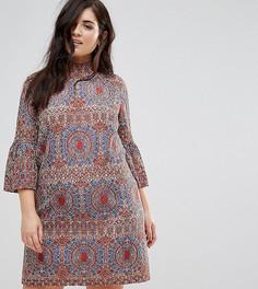 Кружевное платье с высоким воротом Lovedrobe - Мульти