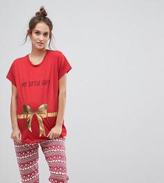 Футболка с вышивкой ASOS MATERNITY CHRISTMAS - Красный