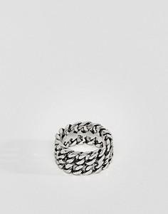 Кольцо с цепочкой Icon Brand - Серебряный