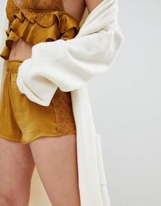Трусы-шортики с кружевной отделкой New Look - Золотой