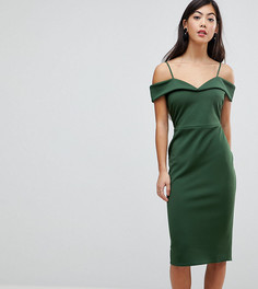 Платье-футляр миди с бретельками ASOS PETITE - Зеленый