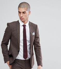 Облегающий пиджак Heart & Dagger - Коричневый