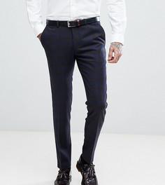 Облегающие брюки в клетку с добавлением шерсти Heart & Dagger - Темно-синий
