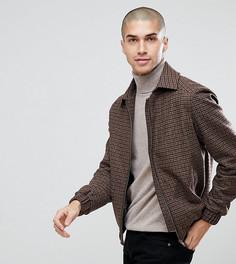 Куртка с узором гусиная лапка и воротником борг Heart & Dagger - Коричневый