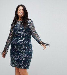 Кружевное платье с цветочным узором из пайеток Unique 21 - Мульти