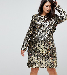 Платье с отделкой пайетками Unique 21 - Золотой