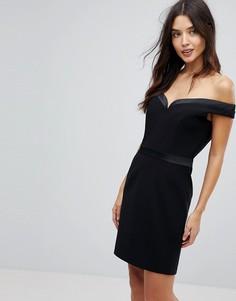Платье мини с открытыми плечами Forever Unique - Черный