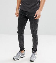 Обтягивающие джинсы с эффектом кислотной стирки Brooklyn Supply Co - Черный