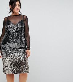 Платье из сеточки с пайетками Coast Plus Gisella - Мульти