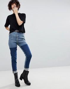 Винтажные джинсы в стиле колор блок Cheap Monday - Синий