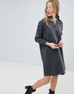 Трикотажное платье-джемпер Vila - Серый