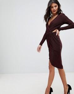 Платье мини с вырезами и запахом Morgan - Красный
