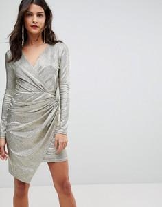 Платье мини с запахом Morgan - Золотой